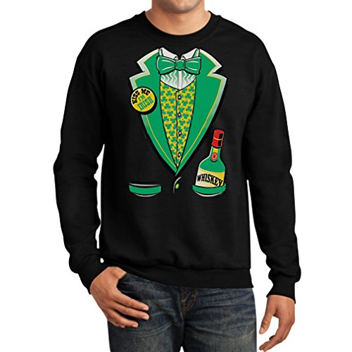 Teestars Men'S - Irish Tux Sweatshirt Small Black
