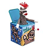 Schylling Sock Monkey Musical Jack-in-the-Box