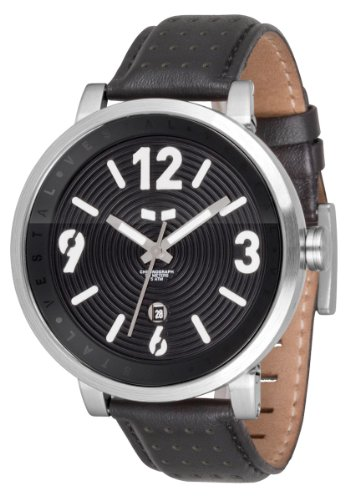 Vestal Men'S Dpl002 Doppler Slim Silver And Black Watch
