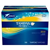 Tampax Pearl Unscented Tampons, Regular Absorbency (96 ct)