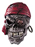 Pirate Skull Bandana Scary Horror Monster Latex Adult Halloween Costume Mask