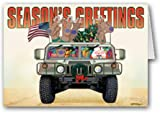 Army & Marine Christmas Card - Military 12 Cards/ 13 Envelopes
