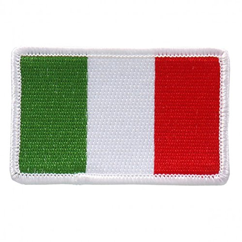 "Embroidered ITALIAN Flag PATCH, Iron-On / Sew-On - 3"" x 2"""