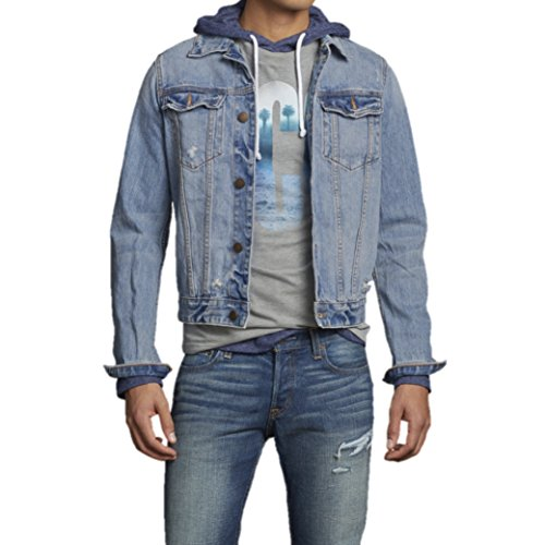 hollister mens denim jacket white point medium apparel