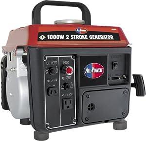 All Power America APG3004 1000-Watt 2-Cycle Gas Powered Portable Generator