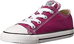 Converse Baby Girl\'s Chuck Taylor All Star Ox (Infant/Toddler) - Pink Sapphire - 2 Infant