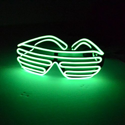 Mammoth Sales Light Up El Wire Shutter Glasses (Green)