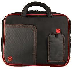 VangoddyTM Fire Red VG Pindar Edition Durable Messenger Shoulder Bag Case for HP Pavilion 15.6 inch Laptop Models dv6-7020 us / dv6-7010 us / HP 2000-2a20nr / HP 2000-2a10nr / ENVY 6-1010us / Envy 4-1010us / g6-2010nr / g6-1d80nr / HP Compaq Presario cq58-a10nr + SumacLife TM Wisdom Courage Wristband