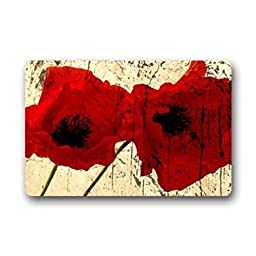 Old Tin Sign Concert Posters Vintage Abstract Red Poppy Flower Art Pattern Decor Metal Poster