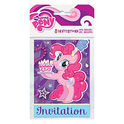 My Little Pony 'Pinkie Pie' Invitations w/ Envelopes (8ct) - 1
