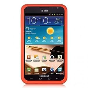 Samsung SCH-i717 Galaxy NOTE Silicone Skin, Red