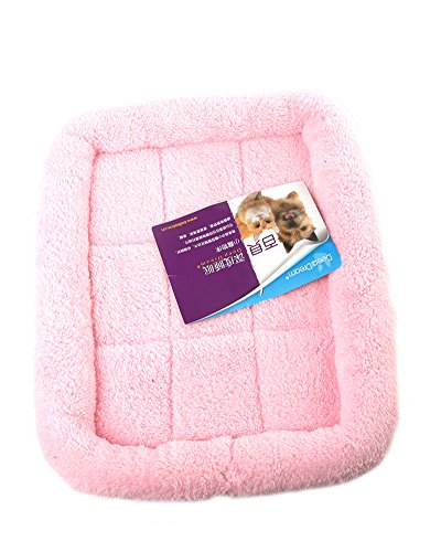 Coco*Store Multicolor Dog Cat Pet Bed Cushion Puppy Soft Plush Mats Crate Cage Floor Mattress for Cages(Pink, M)