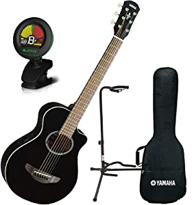 yamaha apxt2 bl 3 4 size acoustic electric guitar black w gig bag tuner and stand. Black Bedroom Furniture Sets. Home Design Ideas
