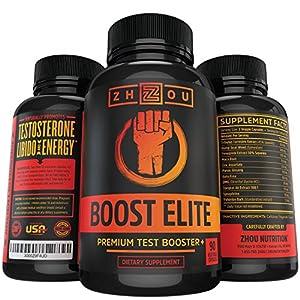 BOOST ELITE Testosterone Booster - Increase Testosterone, Libido & Energy - 11 Powerful Ingredients Including Tribulus Terrestris, Fenugreek, Yohimbe, Maca, Horny Goat Weed & Tongkat Ali, 90 Caps