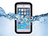 Queens® Waterproof Dustproof Snowproof Shockproof Hard Armor Protective Cover Case For Apple Iphone 6 With screen protect and Touch pen (4.7 Inch)(1-Black)