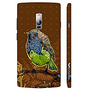 One Plus Two Pisces Brown designer mobile hard shell case by Enthopia