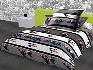 motogp parure linge de lit housse de couette taie d. Black Bedroom Furniture Sets. Home Design Ideas