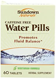 Sundown Naturals Natural Water Pills Herbal Supplement Tablets, 60 Count Package (Pack of 3)