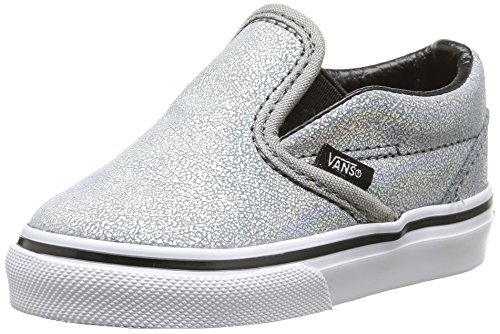 Vans T Classic Slip-on Matte Iridescent, Unisex Babies' Walking Baby Shoes, Silver (matte Iridescent/silver), 9.5 UK (26.5 EU)
