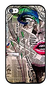 """Humor Gang Newspaper Girl Printed Designer Mobile Back Cover For """"Apple Iphone 4 - 4S"""" (2D, Glossy, Premium Quality Snap On Case)"""