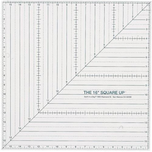 Quilt In A Day 16-Inch by 16-Inch Square Up Ruler