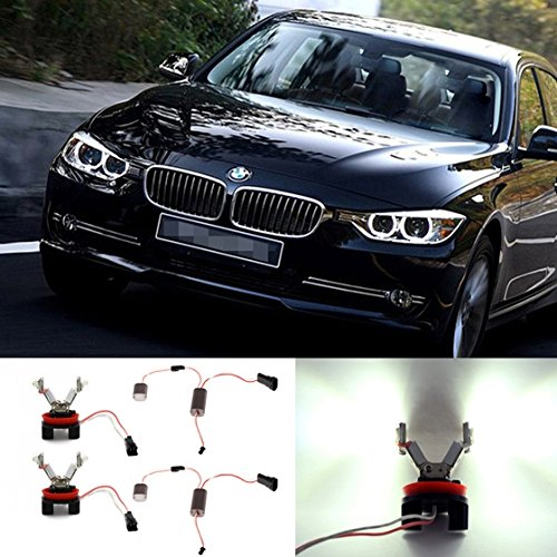 Partsam White 6W Bmw Angel Eyes E60 E90 E92 Led Marker Light H8
