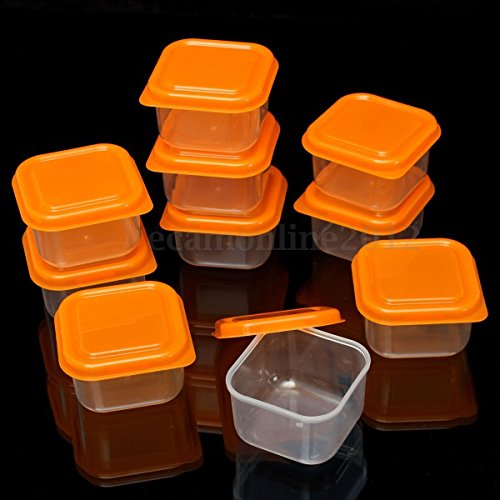 10X Plastic Food Freezer Small Storage Container Organizer Box With Lid Reusable (4 Oz Freezer Containers compare prices)
