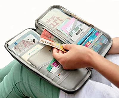 11 Colours Durable Waterproof Nylon Travel Document Wallet from safeinu