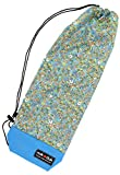 nokduk バドミントン専用ラケットケース  ファンシーシリーズ 『ポーラーベア・花園 ブルー』 スマートでコンパクト(2本可)。丁寧な縫製。