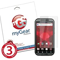 myGear Products DiamondDust Screen Protector Film for Motorola Droid Bionic - (3 Pack) Diamond