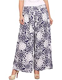 Rama Printed Blue And White Colour Rayon Palazzo For Women & Girl's