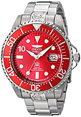 Invicta Men's 16858 Grand Diver Automatic Silver-Tone Stainless Steel Watch
