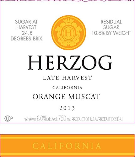 2013 Herzog Late Harvest California Orange Muscat 750 Ml