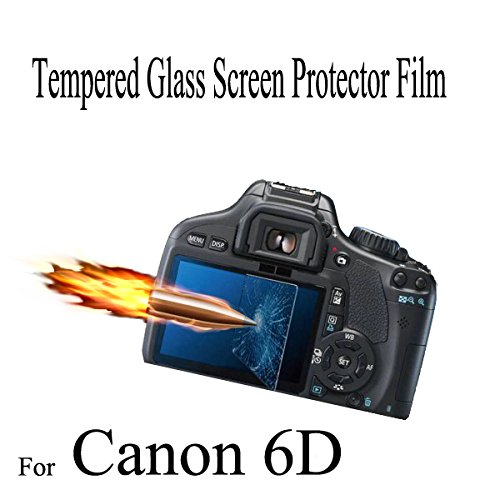 Afunta Real Tempered Toughened Optical Glass Camera Screen Protector 9H Hardness Anti-Bubble Anti-Scratch Anti-Burst Anti-Fingerprint Ultra-Thin Super Light Transmittance For Canon 6D
