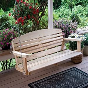 Great American Woodies Cypress Classic Porch Swing Size-Color - 4 ft - Natural