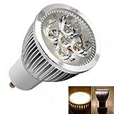GU10 5W 4 LED 3000K Warm White LED Light Spotlight Bulb (85V-265V)