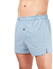 3 Pack Pure Cotton Gingham Checked Boxers