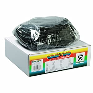 Cando 10-5725 Black Latex-Free Exercise Tubing, X-Heavy Resistance, 100' Length