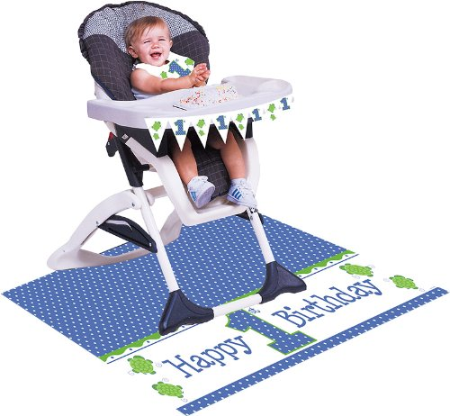 Creative Converting Mr. Turtle First Birthday High Chair Kit