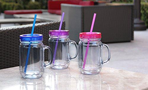 Color Mix 3pk Insulated Acrylic Travel Cup 20 Oz Mason Jar