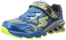 Skechers Kids 95556L Mega Blade Sneaker with Springs,Blue/Yellow,12.5 M US Little Kid