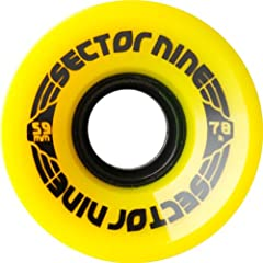 Buy Sector 9 Nine Balls Skateboard Wheel, Yellow, 59mm 78A by Sector 9