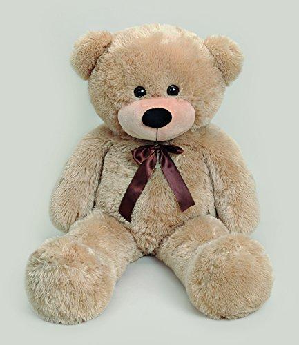 Teddy XXL aus Plüsch beige / hell braun 100 cm - XXL Bär - Teddybär XXL - Bär aus Plüsch - Teddybär aus Plüsch - Kuscheltier aus Plüsch - Kuscheltier - Plüschtier - Kuschelbär - Schmusebär - Plüschbär