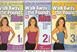 """Walk Away the Pounds for Abs [3] VHS: 1. Get Up and Get Started ...2. High Calorie Burn... 3. Super Fat Burning """"The Ultimate In-home Walking System"""" (VHS)"""