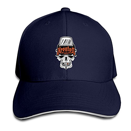 Bang Unisex Kreator Skull Logo regolabile moda cappello da baseball blu navy Taglia unica
