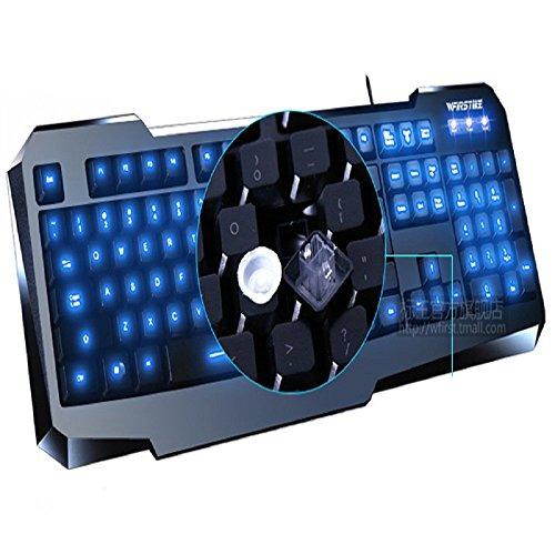 Amjimshop Vovotrade(Tm) Professional Backlit Illuminated Backlight Gaming Keyboard Led Usb Wired For Pc Laptop