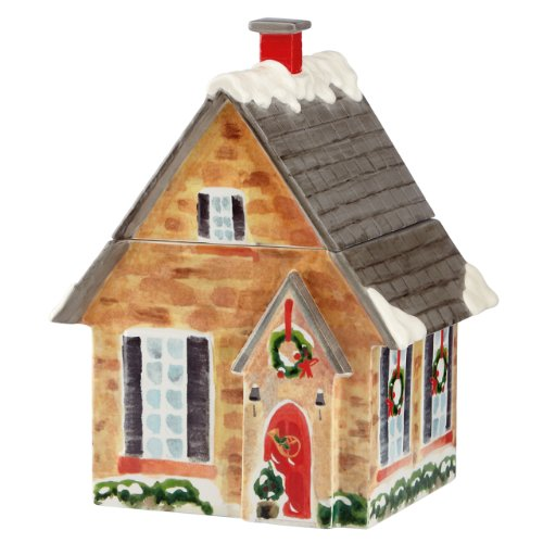 Lenox Holiday Home for The Holidays House Cookie Jar