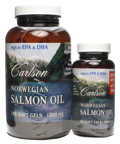 Norwegian salmon oil high in epa dha 180 softgels 50 for Norwegian fish oil