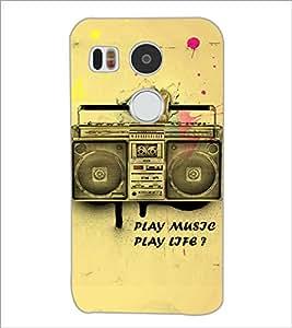 PrintDhaba Radio D-3859 Back Case Cover for LG NEXUS 5X (Multi-Coloured)