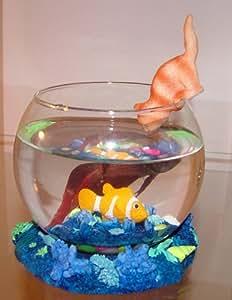 Decorative betta fish bowl gold fish decor for Fish bowl amazon